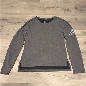 Adidas long sleeve gray tshirt